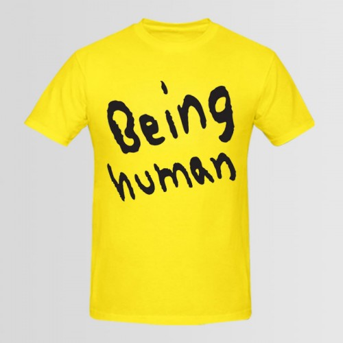 Being Human Round Neck Tees in Yellow