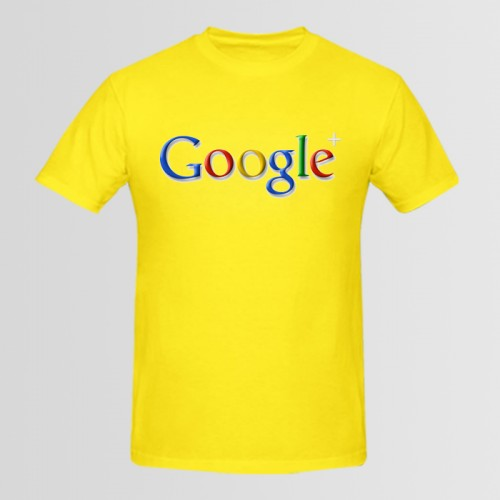 Google logo Yellow Printed T-Shirt For Men