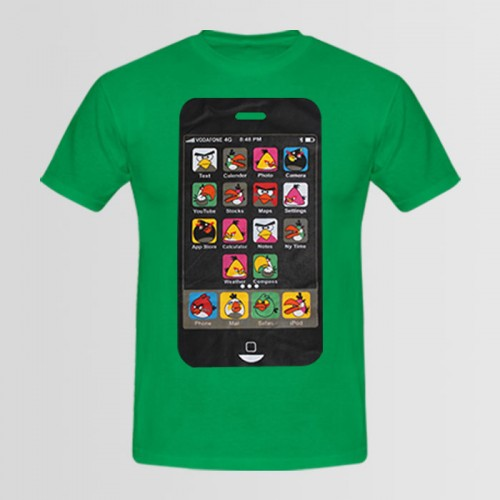 IPH High Quality Printed T-Shirt in Green