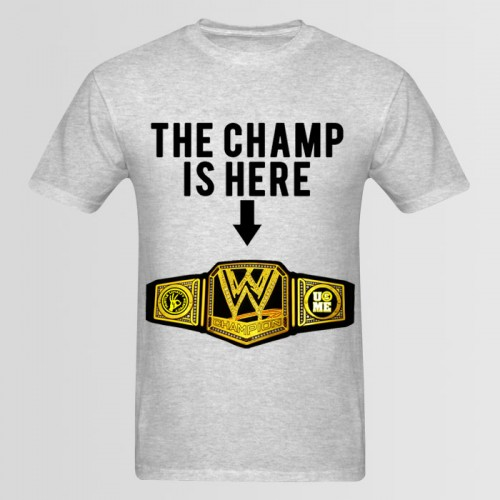 Champ Grey Graphic T-Shirt For Men