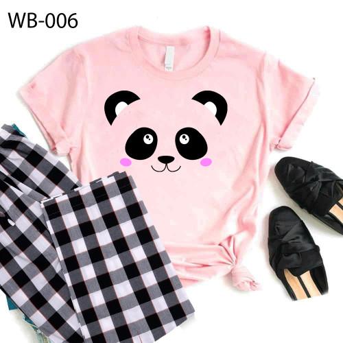 Bundle of Check Pajama & Pink Panda T-Shirt For Women's