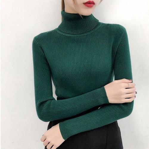 Green High Neck For Women's