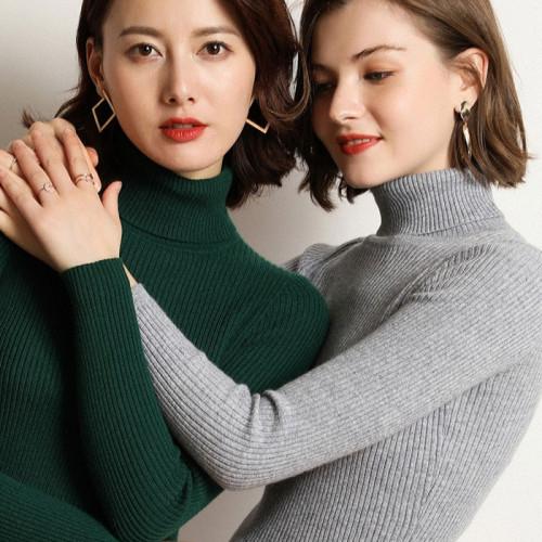 Bundle of 2 Green & Grey High Neck Jumper For Women