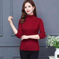 Maroon High Neck For Women's