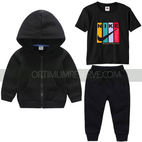 Black Nk Tracksuit For Kids