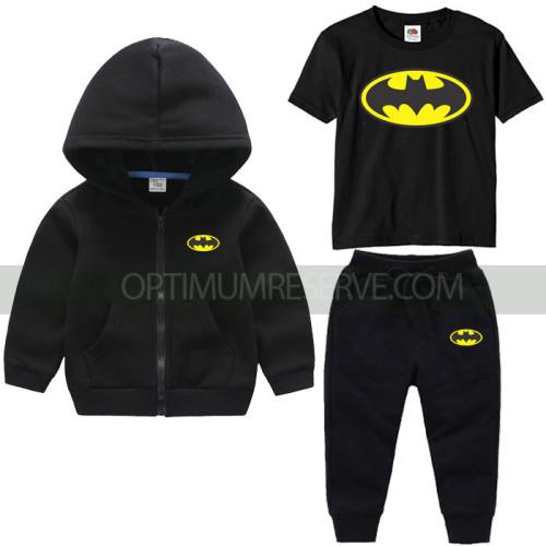 Black Bat Man Tracksuit For Kids
