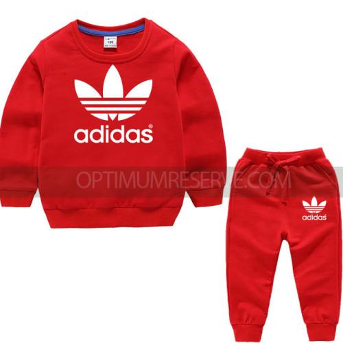 Red Ad Sweatshirt With Ad Pajama For Kids