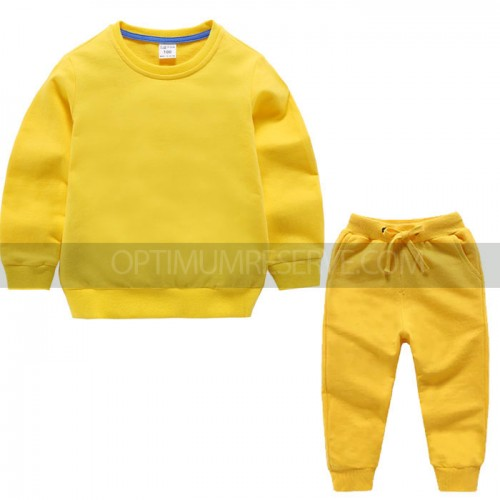 Yellow Winter Tracksuit For Kids
