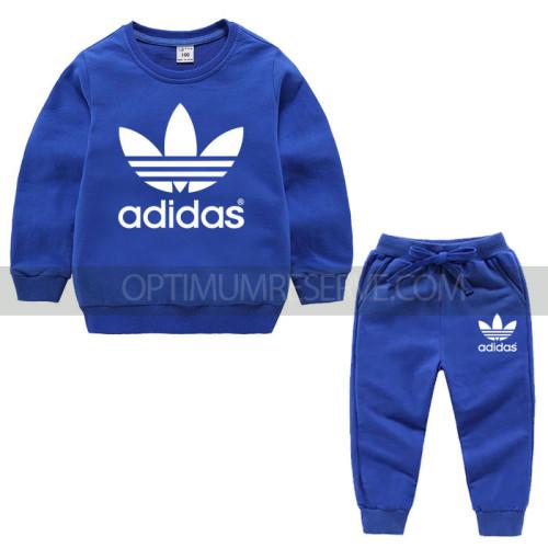 Royal Blue Ad Sweatshirt With Ad Pajama For Kids
