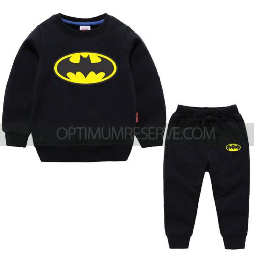 Black Bat Man Sweatshirt With Pajama For Kids