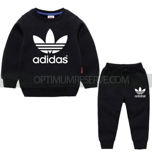 Black Ad Sweatshirt With Ad Pajama For Kids