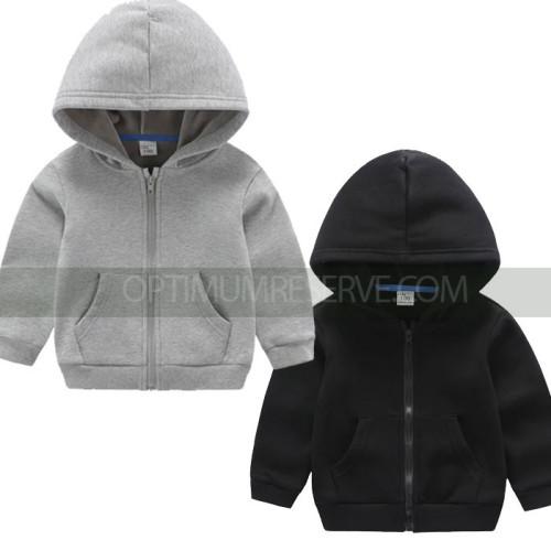 Bundle of 2 Zipper Basic Hoodie For Kids