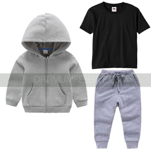 Grey Tracksuit Black Tshirt For Kids