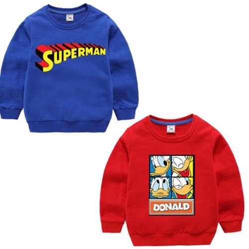 Bundle of 2 Red & Blue Pullover Kids Sweatshirt