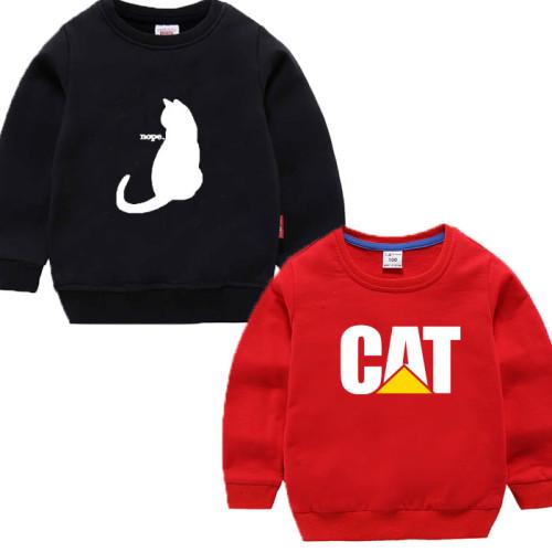 Bundle of 2 Red & Black Cat Logo Sweatshirts