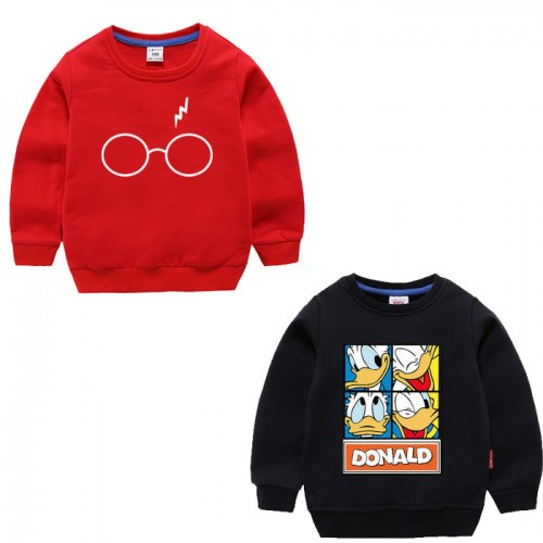 Bundle of 2 Red & Black Pullover Sweatshirts