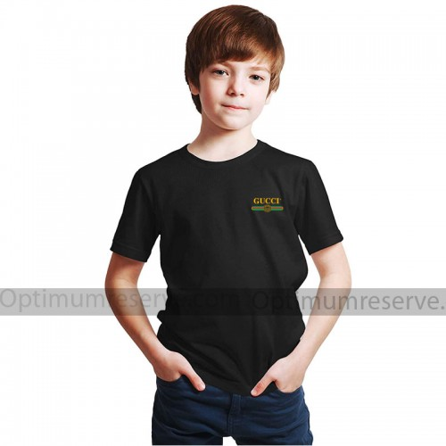 Gc Half Sleeves Printed T-Shirt in Black