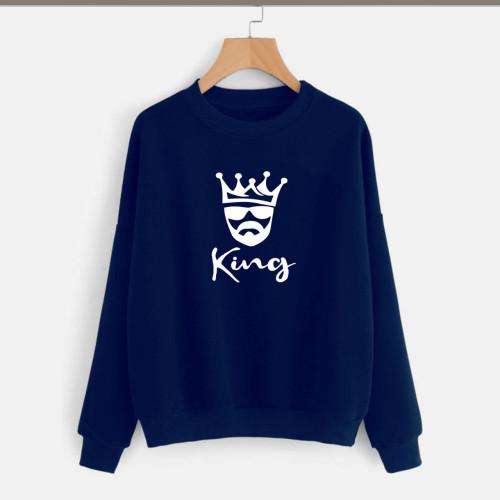 King Navy Blue Pullover Sweatshirt