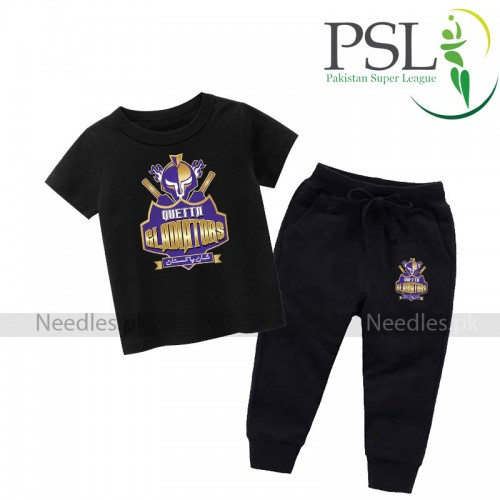 Quetta Gladiator Black T-shirt With Trouser