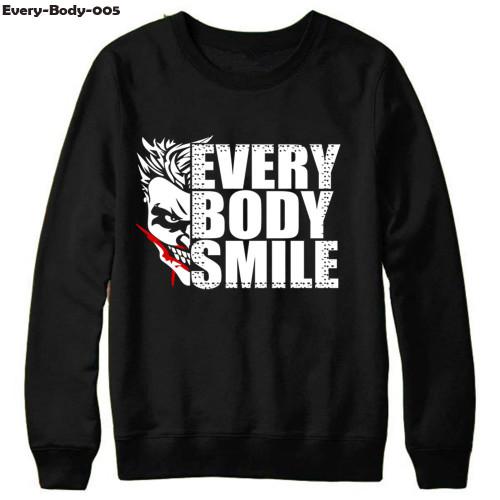 Every Body Smile Black Sweatshirt For Men's