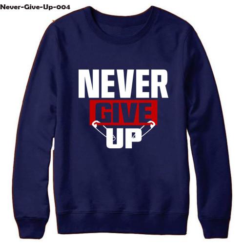 Never Give Up Navy Blue Sweatshirt For Men