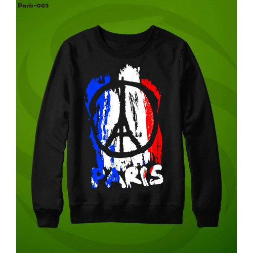 Paris Black High-Quality Sweatshirt For Men