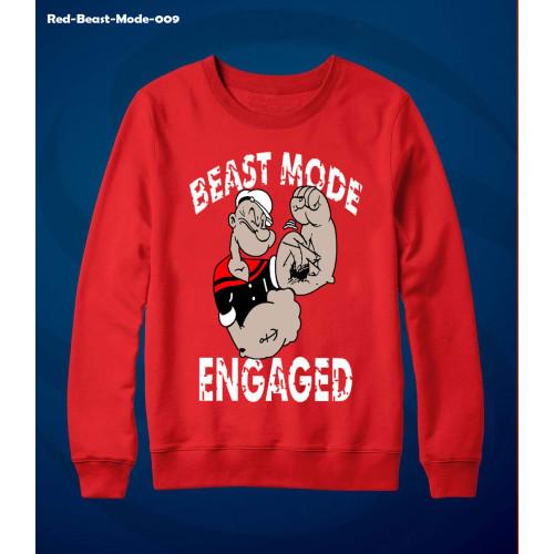 Beast Mode Red Exported Quality Sweatshirt