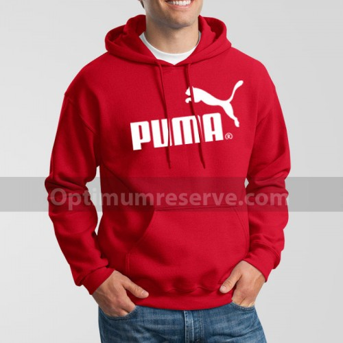 Red Pm Printed Exported Hoodie For Men's