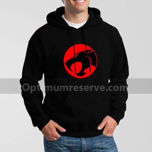 Black Thundercat Printed Exported Hoodie For Men's