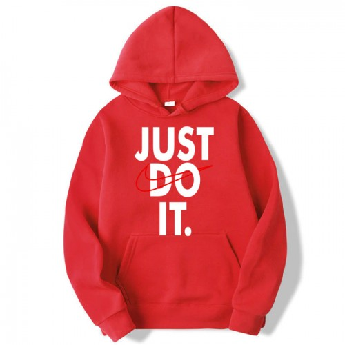 Just do it Red Pullover Hoodie For Boys
