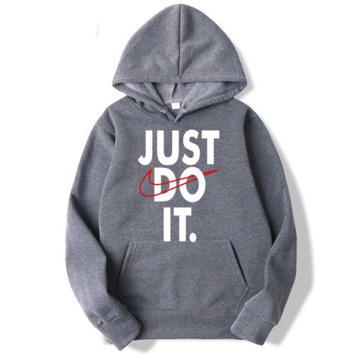 Just do it Grey Hoodie For Men