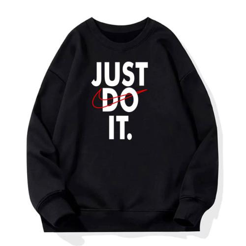 Just do it Black Sweatshirt For Men's