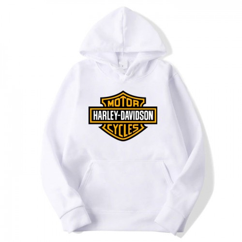 Harley Davidson White Hoodie For Kids