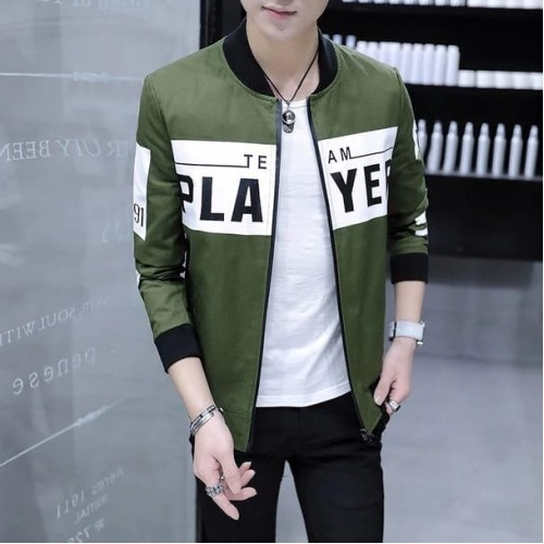 Player Green Stylish Jacket For Men's