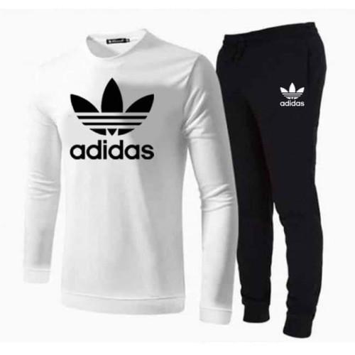 Ad White Full Sleeves T-Shirt & Black Trouser