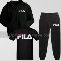 Black FL Track Suit With T-Shirt For Men's