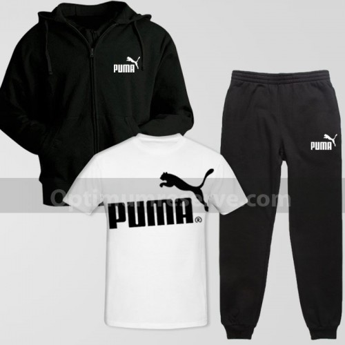 Black Pm Track Suit With T-Shirt For Men's