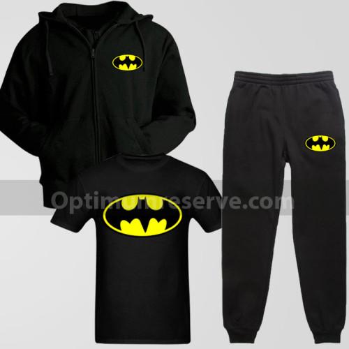 Black Bat Man Track Suit With T-Shirt For Men's