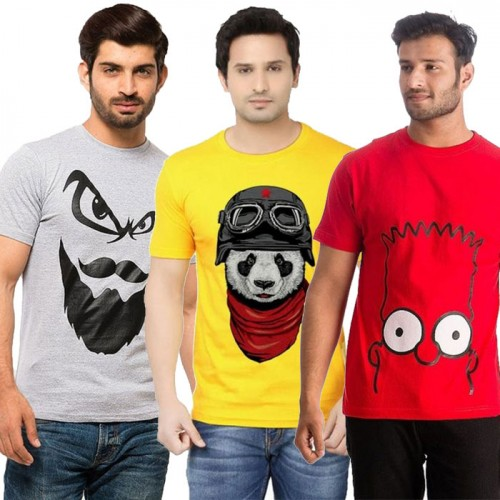 Bundle of 3 Printed T-Shirt For Men's WB-01