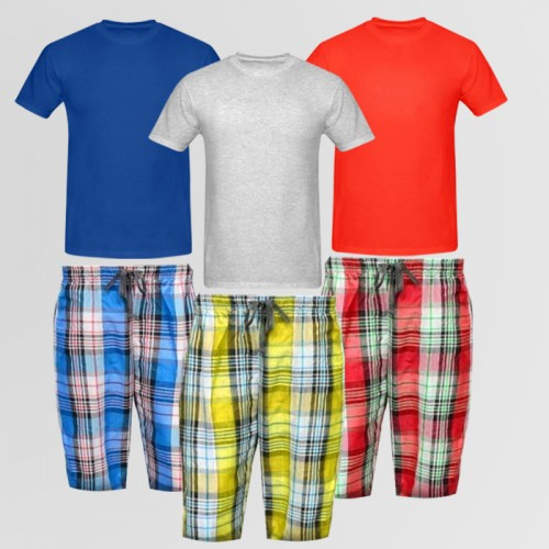 Bundle of 3 Basic T-Shirt & Casual Shorts
