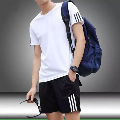 Black Short & White T-Shirt For Men's