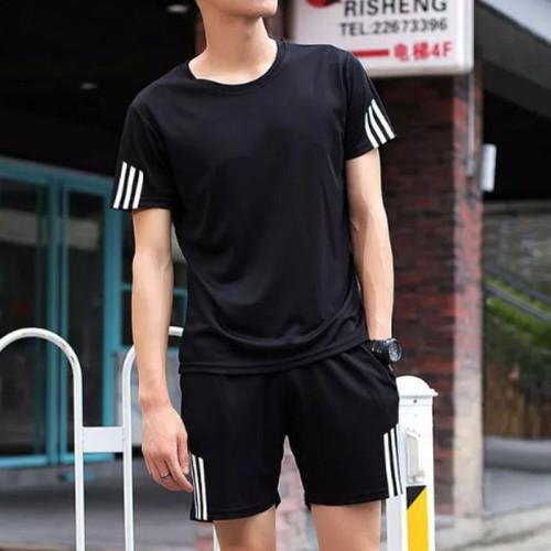 Black Short & T-Shirt For Men's