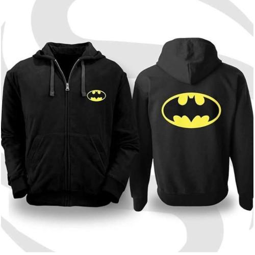 Batman Black Zipper Hoodie For Boys