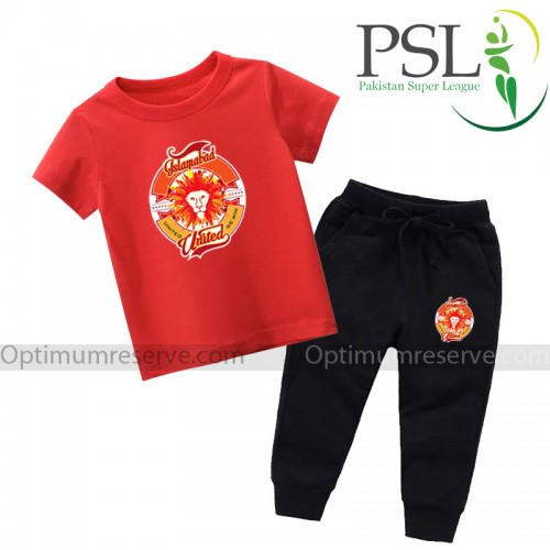 Islamabad United Red T-shirt With Trouser