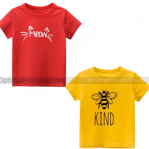 Bundle of 2 Yellow & Red Tee For Kids