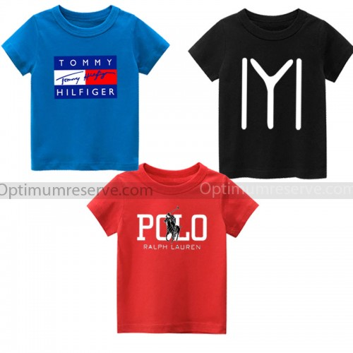 Pack of 3 Best Quality Graphic Tees For Kids