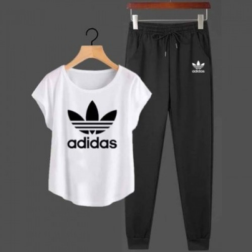 Ad White Summer Tracksuit For Ladies