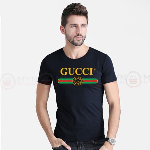 Gc Black Printed T-Shirt For Men