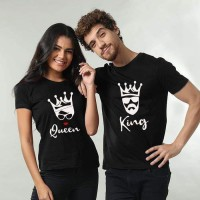 Bundle of Two King & Queen Half Sleeves T-Shirt