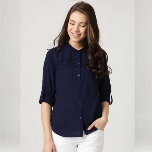 Navy Blue Women's Casual Shirt